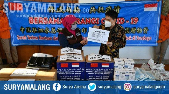 Konjen China Beri Bantuan Alat Medis Penanganan Covid-19 untuk Jawa Timur