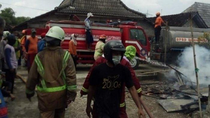8 Rumah di Bojonegoro Kebakaran, Diduga Akibat Korsleting Listrik