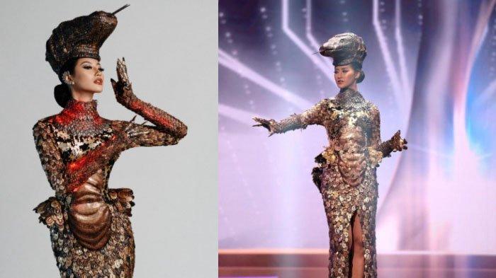 Detail Kostum Nasional Komodo di Miss Universe 2021, Ada Efek 3D untuk Beri Kesan Mewah dan Liar