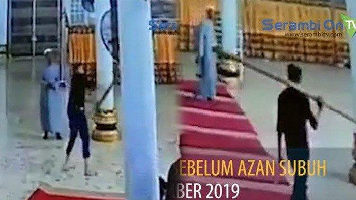 Kronologi Pria Bertongkat Ngamuk di Dalam Masjid, Rusak Kaca & Lampu, Jamaah Salat Lari Berhamburan