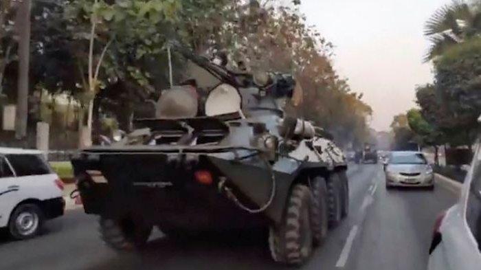UPDATE Kudeta Myanmar : Suasana Mencekam, Kendaraan Lapis Baja Diterjunkan, Jaringan Internet Lumpuh