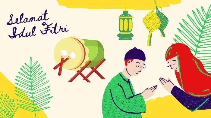 Kartun Stiker WhatsApp Lebaran 2021, Gambar Lucu Ucapan Idul Fitri 1442 H Cocok Untuk Status Medsos