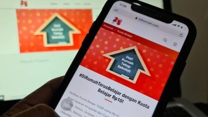 Cara Dapatkan Kuota 10 GB Hanya 10 Rupiah dari Telkomsel Buat Pelajar, Bisa Akses Zoom Gratis