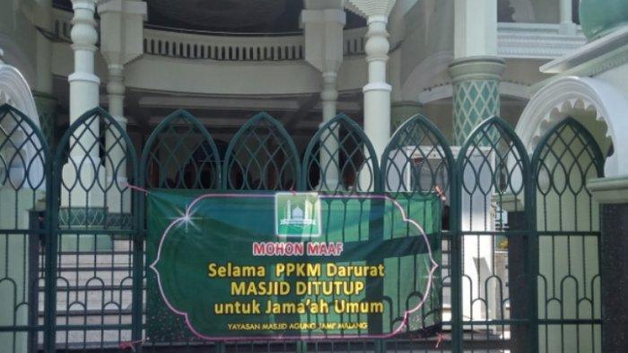 Takmir Hanya Siapkan Kuota 75 Orang untuk Salat Idul Adha 2021 di Masjid Agung Jami Kota Malang