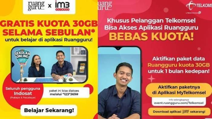 Cara Aktifkan Kuota Gratis Indosat & Telkomsel 30 GB, Fasilitas Siswa/Mahasiswa Belajar di Rumah
