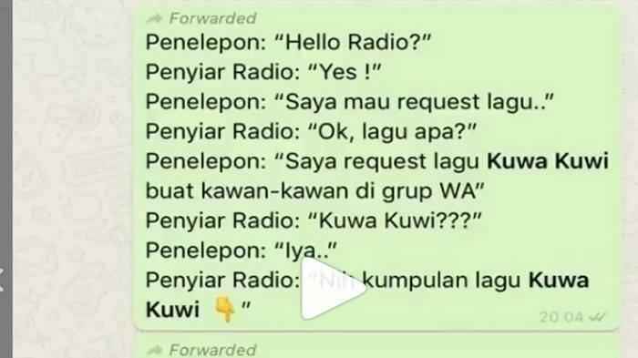Lagu Kuwa Kuwi Viral di Media Sosial, Ternyata Berawal dari Request Radio, Videonya Bikin Ngakak