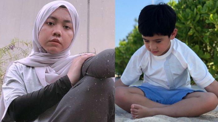 Lala (kiri) pengasuh Rafathar (kanan) geram karena anak majikannya dibully