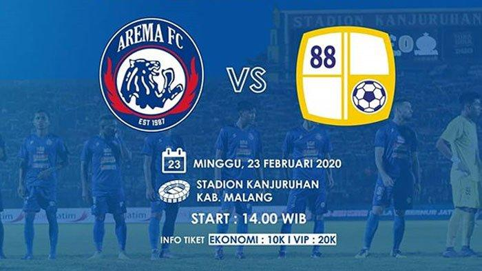 Launching Tim & Launching Jersey Arema di Laga Uji Coba Arema FC Vs Barito Putera