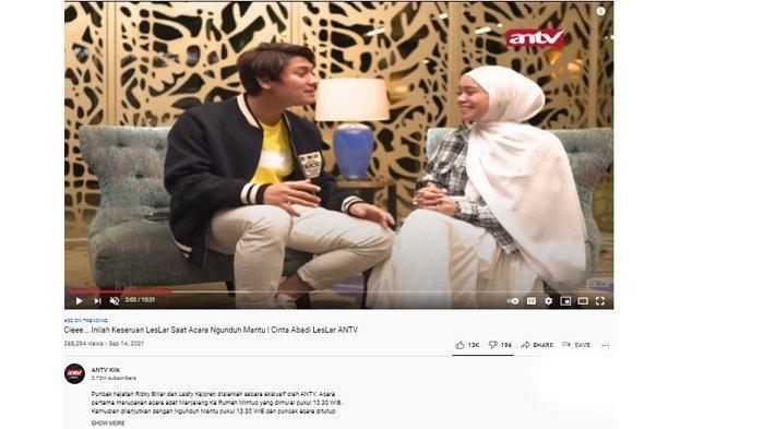 Lesti Kejora dan Rizky Billar dalam debat sengit di ANTV