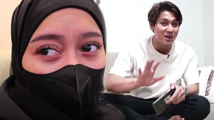 Lesti Kejora (kiri) manggung di Sumbawa ditemani suaminya Rizky Billar (kanan)
