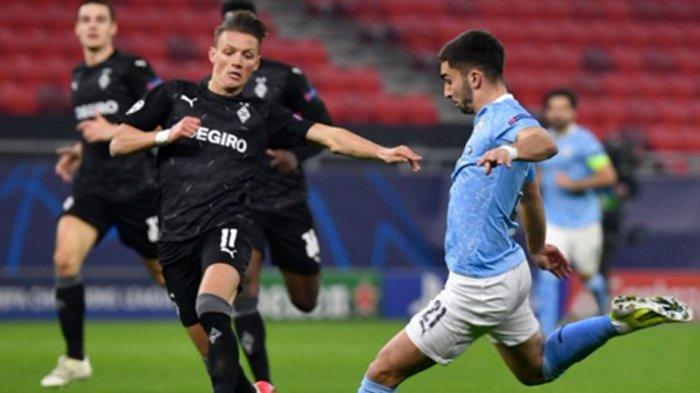 Hasil Liga Champions Manchester City Menang atas Borussia Moenchengladbach, Alot di Menit Awal