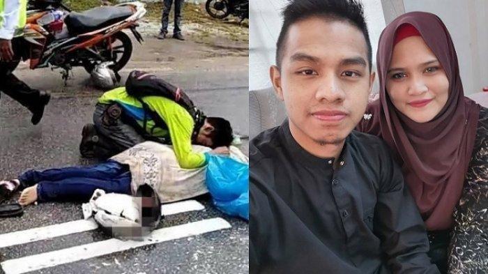 Lihat Kecelakaan Truk vs Motor Lalu Mendekat, Tangis Pria Ini Pecah Saat Tahu Ternyata Istri Sendiri