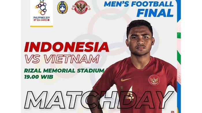 Link Live Streaming Final SEA Games 2019 Timnas Indonesia VS Vietnam Disiarkan RCTI Sekarang