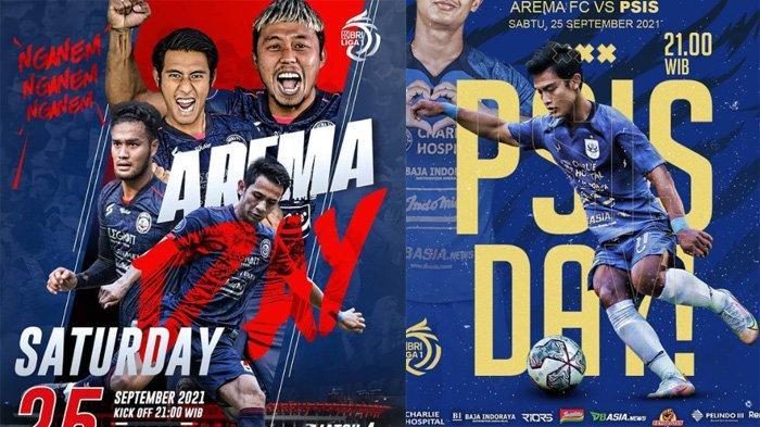 Live Streaming Indosiar Arema FC Vs PSIS Semarang Liga 1 2021, Prediksi Pemain hingga Skor Malam Ini