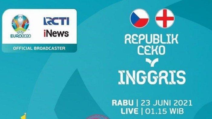 Link Streaming Euro Ceko vs Inggris Live TV Online Mola TV dan RCTI Mulai Jam 02.00 WIB