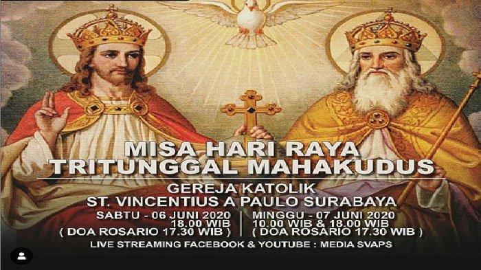 Link Streaming Misa Online Gereja Katolik Surabaya Sabtu 6 Juni 2020