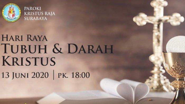 Link Streaming Misa Online via Youtube Gereja Katolik Surabaya Sabtu 13 Juni 2020