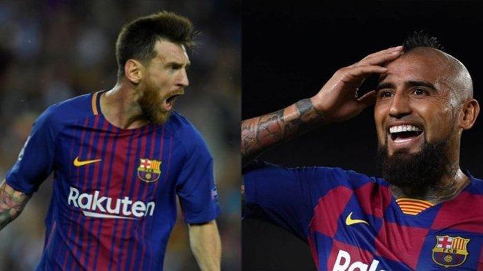 VIDEO Pantas Saja Arturo Vidal Dianugerahi Aksi Terbaik Liga Champions, Rela Jatuh Bangun Demi Messi