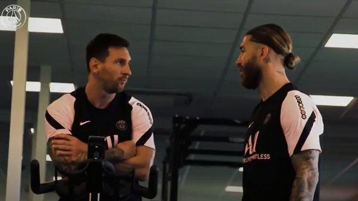 Momen Lionel Messi Berpelukan dengan  Sergio Ramos di PSG, Eks Kapten Barca dan Real Madrid Bersatu