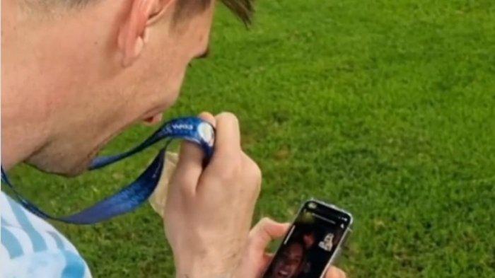 Terbongkar 'Modus' Video Call Messi saat Juara Copa America 2021, Ada Ikatan Bisnis dengan WhatsApp