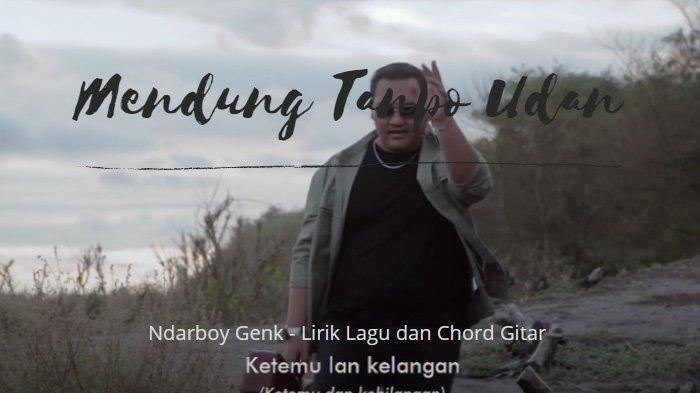 Lirik Lagu Mendung Tanpo Udan dan Chord Gitarnya Versi Dangdut - Ndarboy Genk