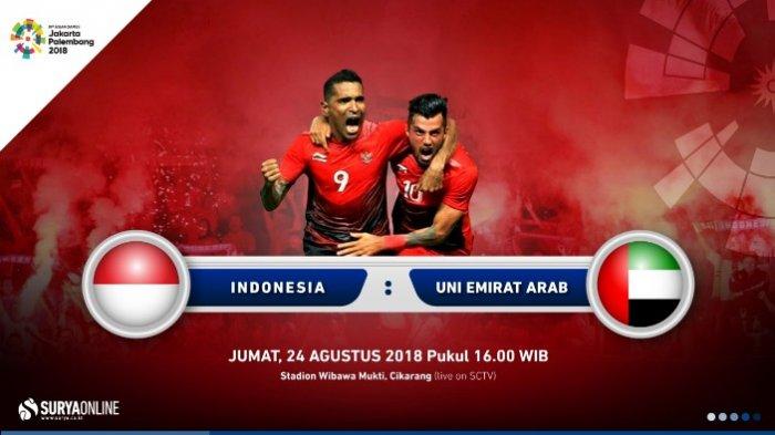 Live Streaming SCTV Timnas Indonesia U23 Vs UEA U23 Jumat 24 Agustus Kick Off Dimulai Sore