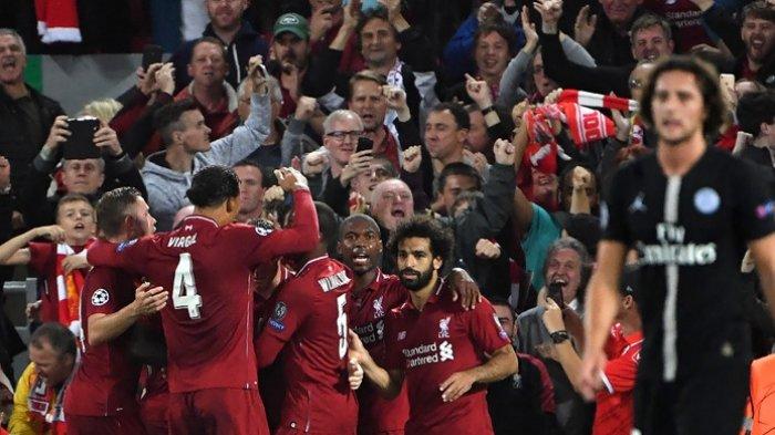 Hasil Skor Liverpool Vs PSG 3-2 di Liga Champions, Sikap Mo Salah Banting Botol jadi Sorotan
