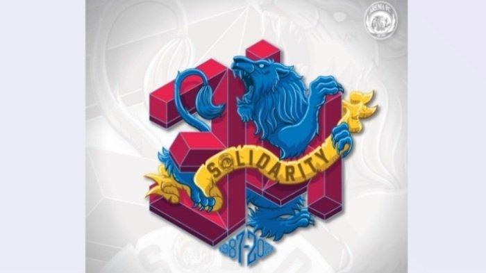 Logo dan slogan ultah Arema FC ke-34 dengan tema solidarity.