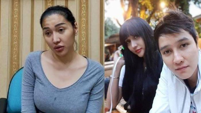 Lucinta Luna berada di ruangan di Rutan Pondok Bambu Jakarta Timur kolase foto bersama Abash