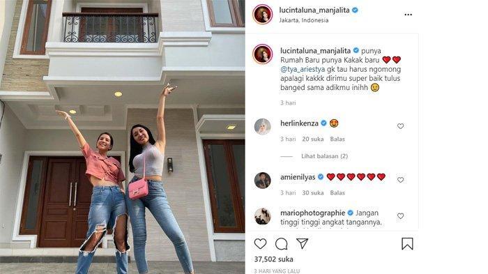 Lucinta Luna pamer rumah baru dan foto bersama Tya Ariesta
