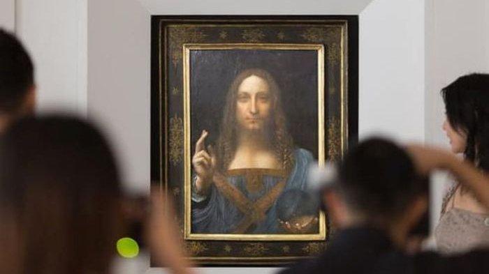 Lukisan berjudul 'Salvator Mundi' karya Leonardo Da Vinci yang menjadi lukisan termahal di dunia.