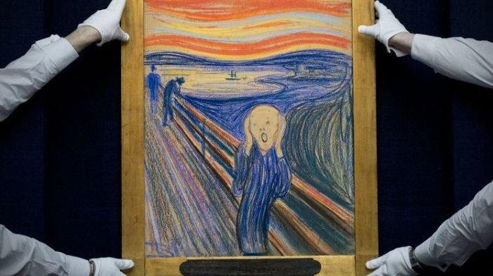 Misteri Lukisan The Scream Karya Edvard Munch Tahun 1893 Perlahan Terkuak, Merekam Letusan Kratakau