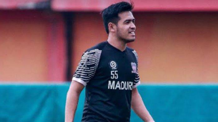 Tetap Berlatih Meski Tim Libur, Bek Madura United Novan Setya Sasongko Terapkan Prokes Ketat
