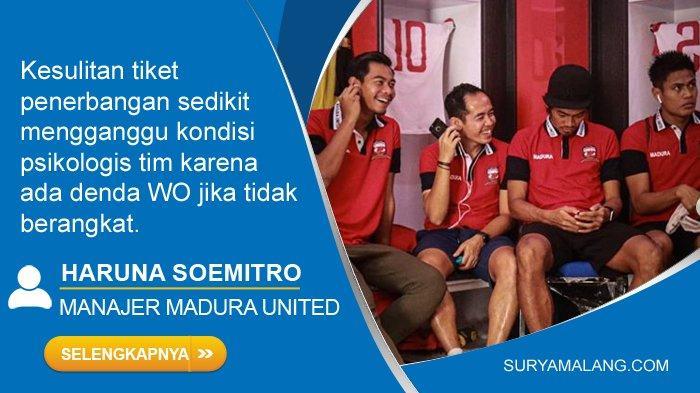 Tim Madura United Kesulitan Tiket Pesawat ke Makassar, Terpaksa Berangkat Dua Kloter