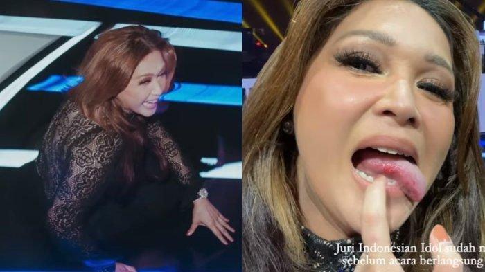 Maia Estianty jatuh dari panggung Indonesia Idol juri lain syok