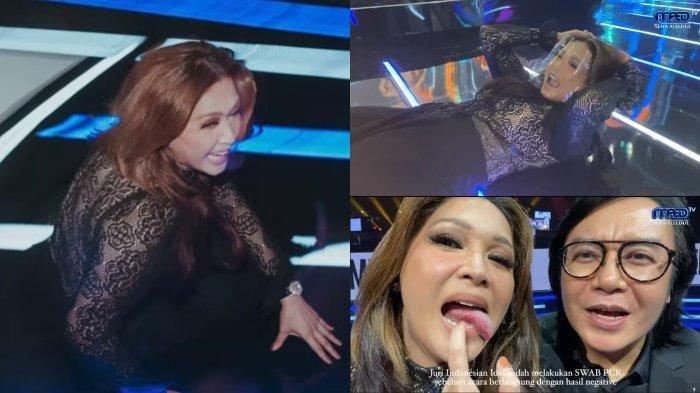 Maia Estianty jatuh dari panggung Indonesia Idol