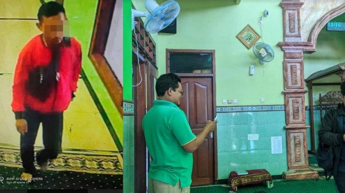 Tampang Maling Sound System di Masjid Mojokerto Terekam Kamera CCTV, Pelaku Tahu Tempat Kunci