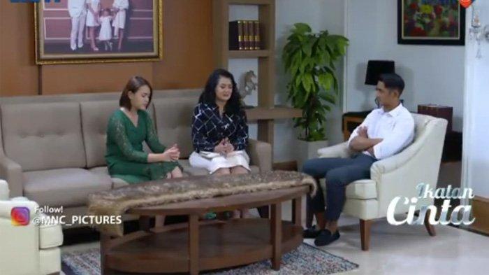Mama Karina, Andin dan Aldebaran dalam adegan sinetron Ikatan Cinta Kamis 2 September 2021