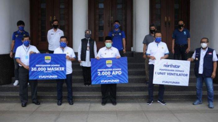Persib Bandung Beri Sumbangan Alat Medis untuk Penanganan Virus Corona di Kota Bandung