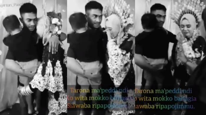 Mantan istri menangis di pelukan mantan suami