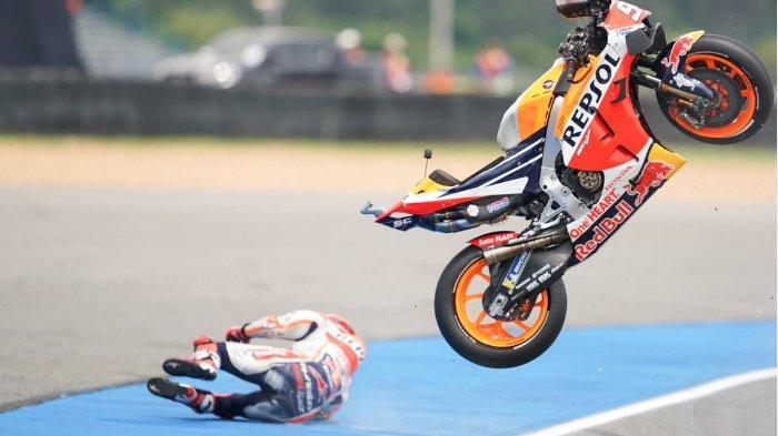 Jadwal MotoGP Thailand 2019, Marc Marquez Kecelakaan Hebat, Fabio Quartararo Rajai FP2