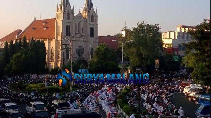 Jadwal Sholat Idul Fitri 2019 di Masjid Agung Jami Kota Malang 5 Juni 2019 dimulai Pukul 06.00 WIB