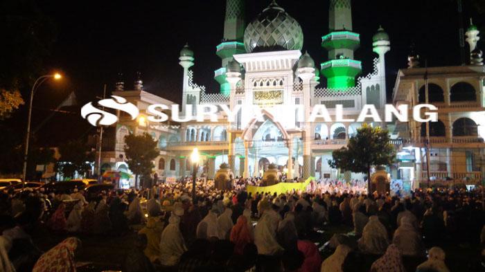 Persiapan Pelaksaan Salat Tarawih di Masjid Jami Kota Malang, Warga Perlu Perhatikan Aturannya Ini