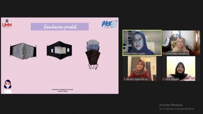 Mahasiswa UMM Buat Masker Transparan bagi Penyandang Tunarungu