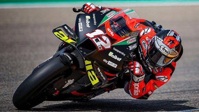 Hasil FP 1 MotoGP San Marino 2021, Maverick Vinales Buat Kejutan Bersama Tim Baru Aprilia Gresini