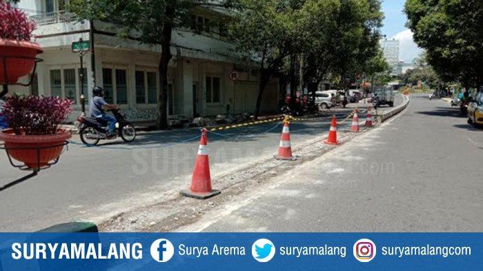 Jalan Basuki Rahmat Belum Ditutup, Dishub Kota Malang Tunggu Pelaksana Proyek Siapkan U Turn