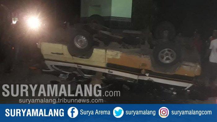 Dihantam Truk Tronton Dari Belakang, MPU Terguling Dan Dua Orang Penumpang Tewas Di Tuban