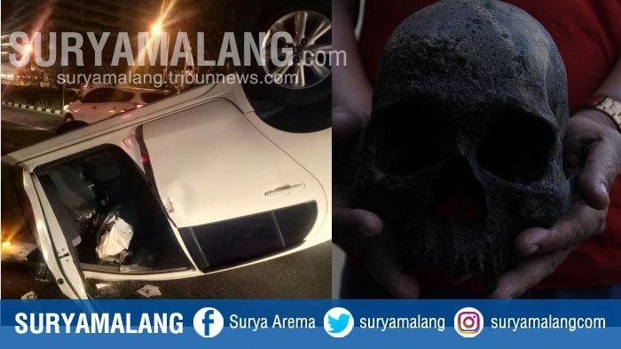 Rangkuman Kejadian Jatim Kemarin, Mulai Mobil Terbalik di Surabaya sampai Temuan Tengkorak Mojokerto