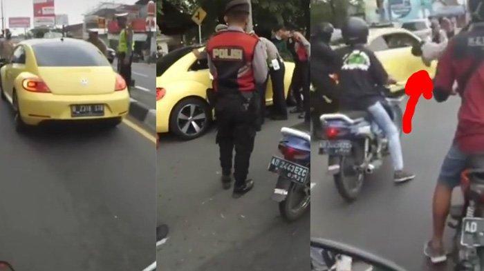 Penyebab Mobil VW Kuning Tabrak Polisi di Pos Penyekatan Mudik, Identitas Terungkap, di Bawah Umur