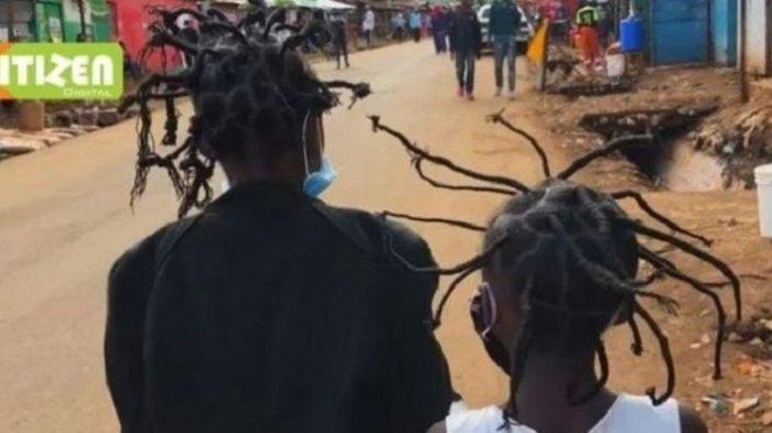 Dari Blitar Hingga Kenya Afrika, Virus Corona Menginspirasi Penata Gaya Rambut dan Seniman Batik